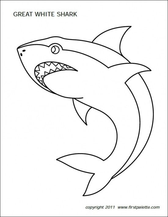 Ff First Palette Shark Shark Coloring Pages Shark Printables Fish Coloring Page