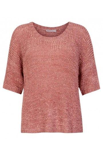Tape Yarn Slub Knit Sweater