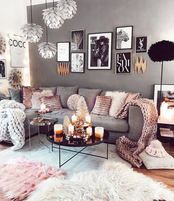 Scandinavian ideas; gray living room; cozy living room decorations; modern w #D... - Welcome to Blog