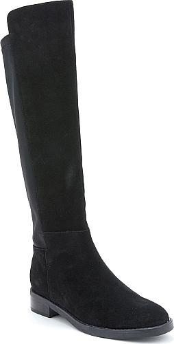 d8313fa3467 Women s Blondo Ellie Waterproof Knee High Riding Boot in Black Suede. A  stretchy panel enhances the comfort of a sleek riding boot crafted from  smooth ...