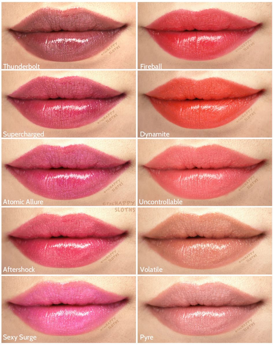 Buxom Shimmer Shock Lip Stick Review And Swatches Hair