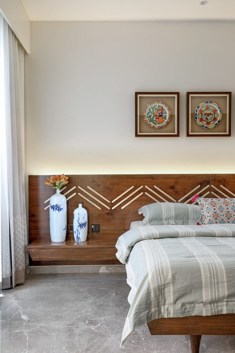 This Vadodara bungalow embraces a grey colour palette with ...