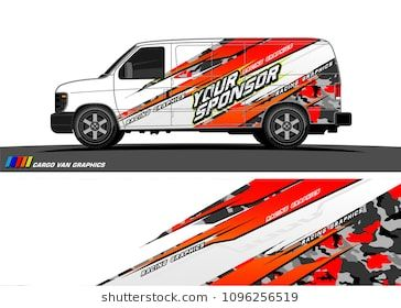 15c9f3eb7d Cargo van graphic vector. abstract grunge background design for vehicle  vinyl wrap