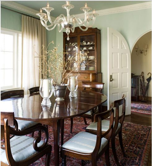 Blue Dining Room Decoration: Dining Room... - Traditional Dining