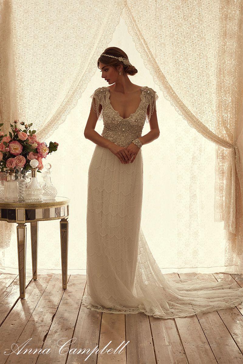 Slim fit wedding dresses  Spirit  NOVIAS  Pinterest  Anna campbell Wedding dress and Wedding