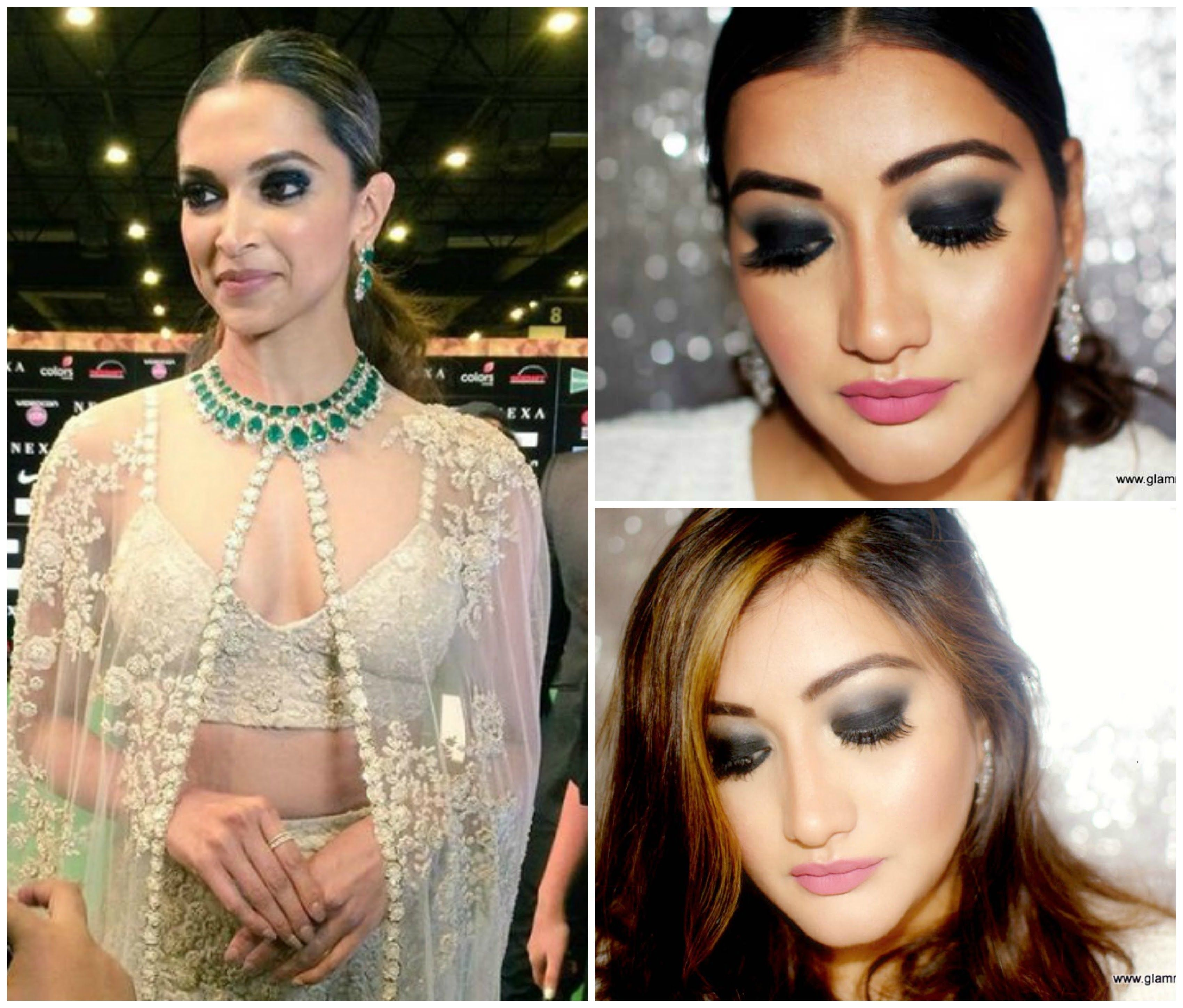 Deepika Padukone Iifa Makeup Look Black Smokey Eyes Black Smokey Eye Makeup Looks Beauty Tips For Hair