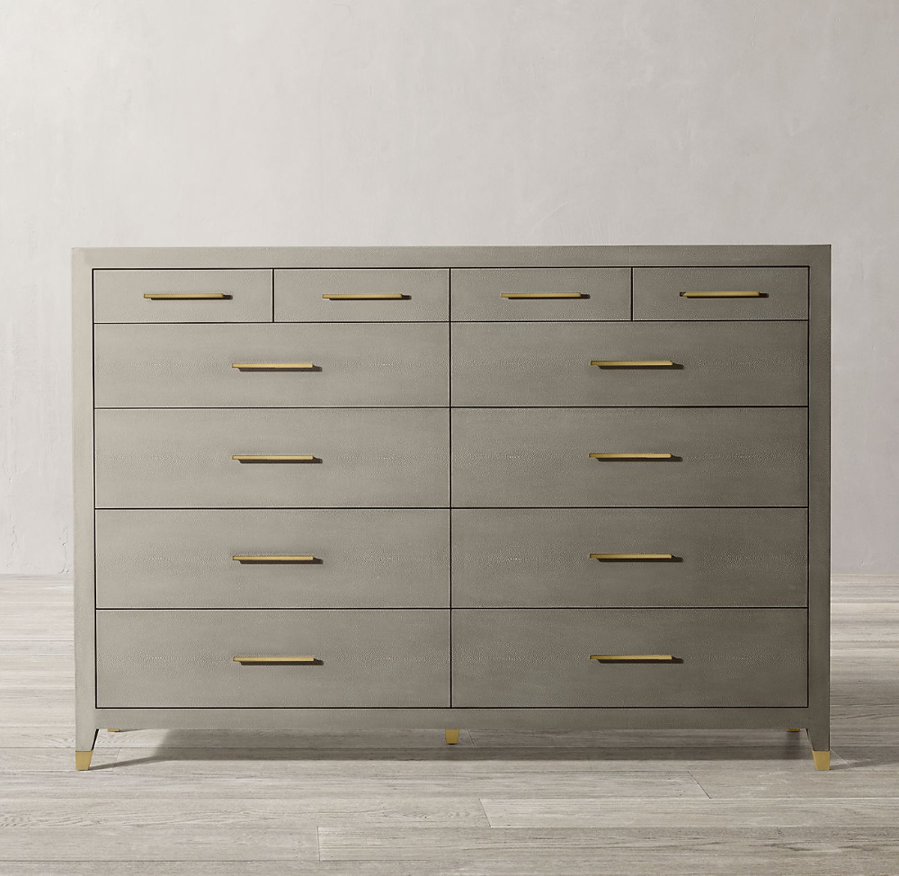 Graydon Shagreen 12 Drawer Dresser 12 Drawer Dresser Dresser