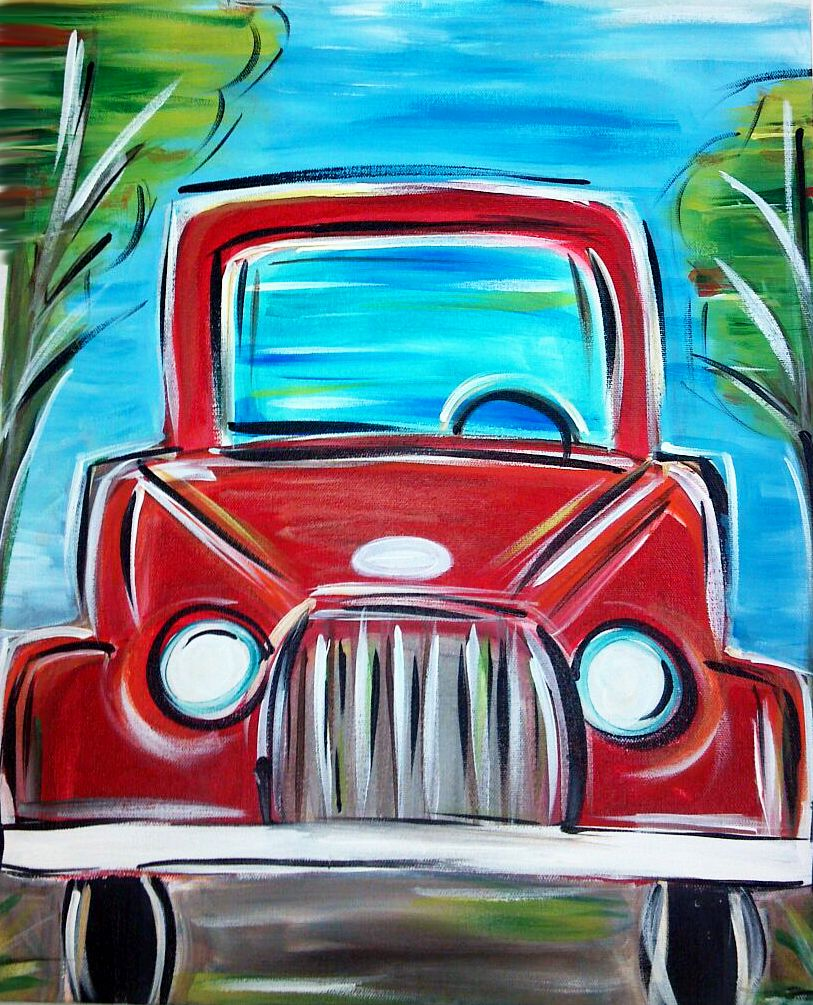Truckin Canvas Painting Art After Dark Painting
