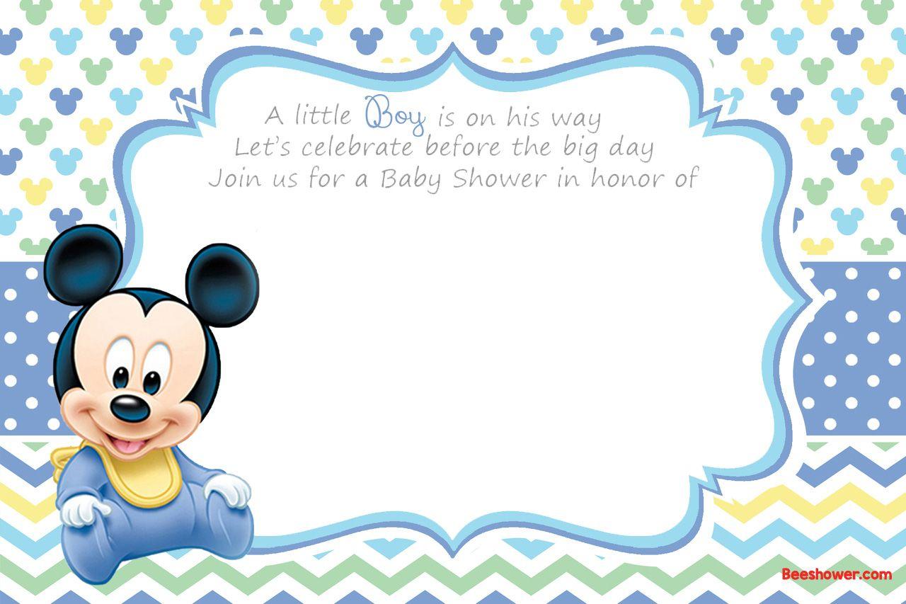 Free Printable Disney Baby Shower Invitations