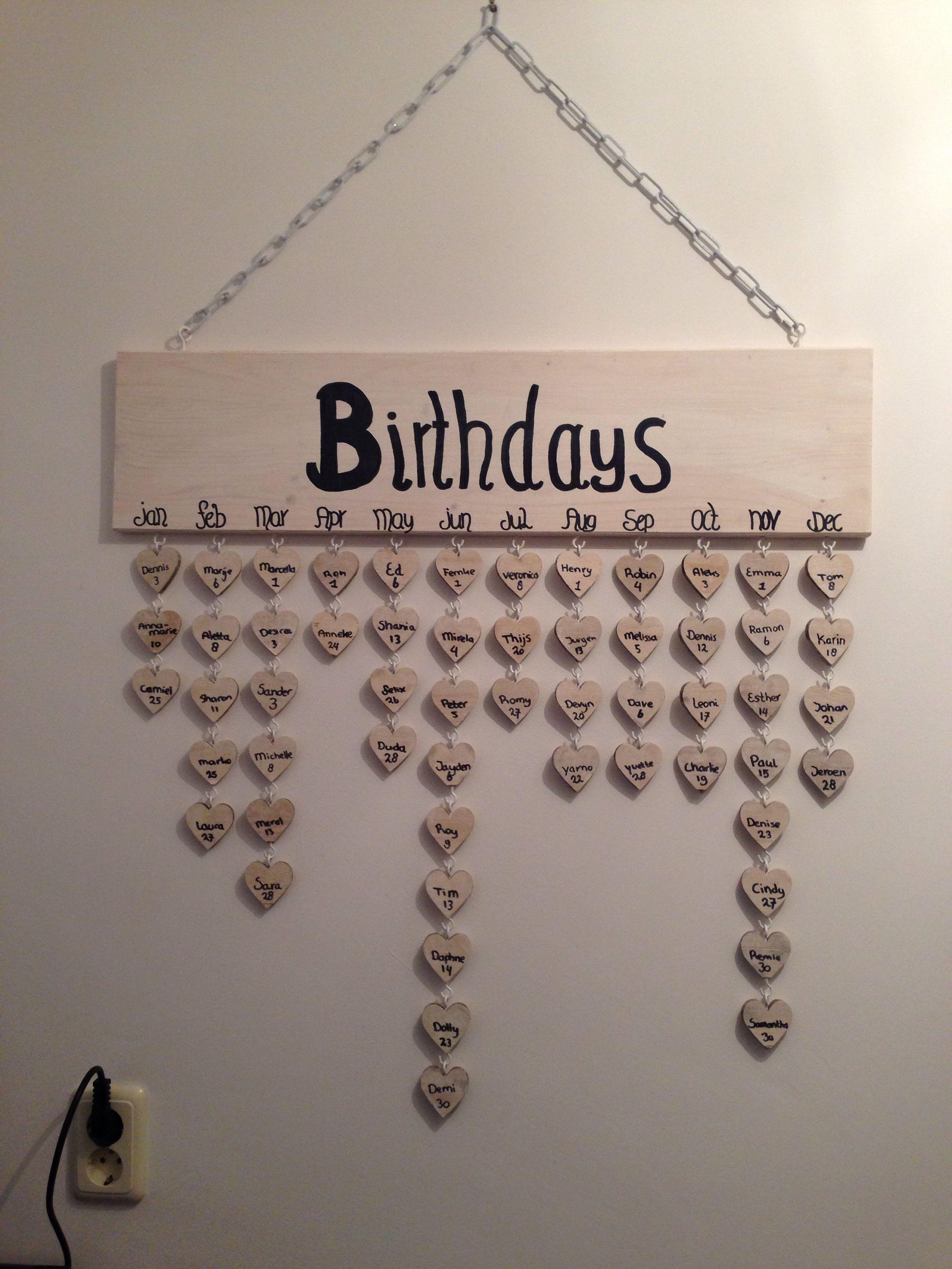 Wonderbaarlijk Happy met onze verjaardagskalender (met afbeeldingen) | Diy RS-06