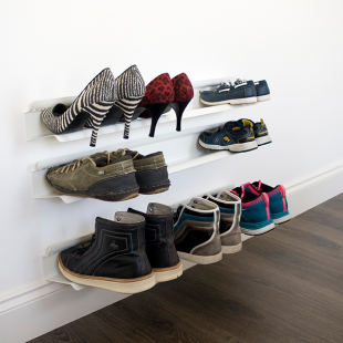 wall shoe rack white