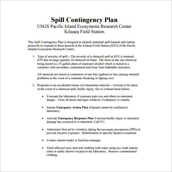 10+ Contingency Plan Templates Word, Excel  PDF Templates www