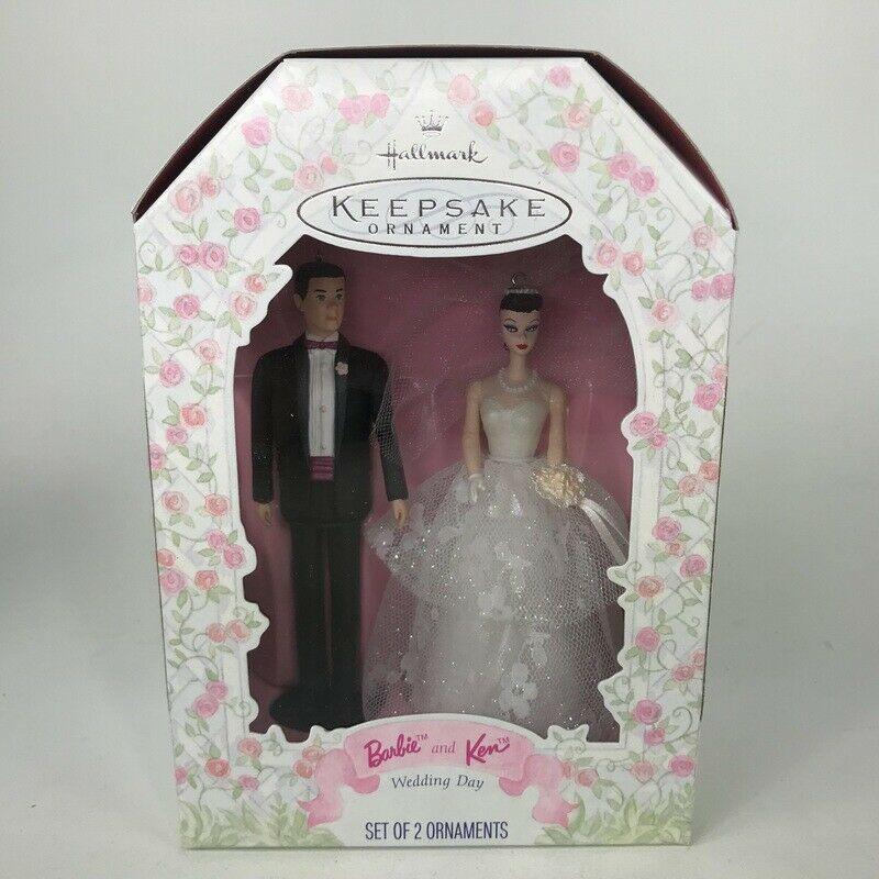 Hallmark Keepsake Barbie And Ken Doll Wedding Day Marriage Qxi6815 1997 2 Peices Barbie And Ken Wedding Day Keepsake