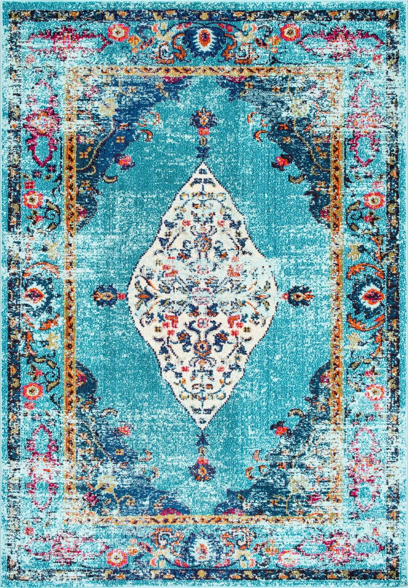 Overdyed saturated greatness This is Rugs USA s Chroma CB26 Iris