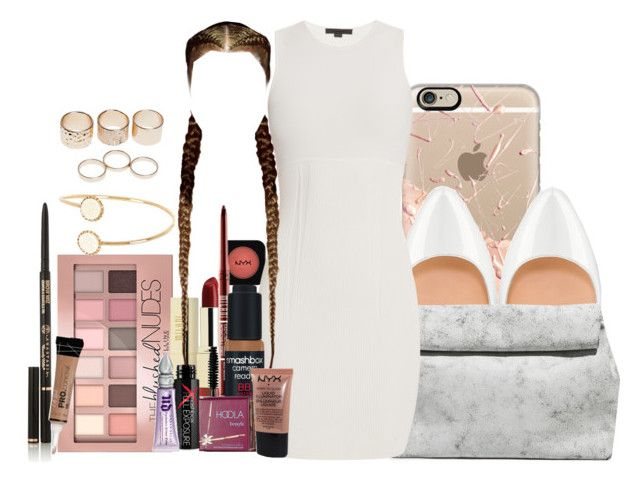 """Untitled #904"" by jackie143 ❤ liked on Polyvore featuring Casetify, Christian Louboutin, NYX, Maybelline, Milani, Zara, Alexander Wang, Smashbox, Urban Decay and Benefit"