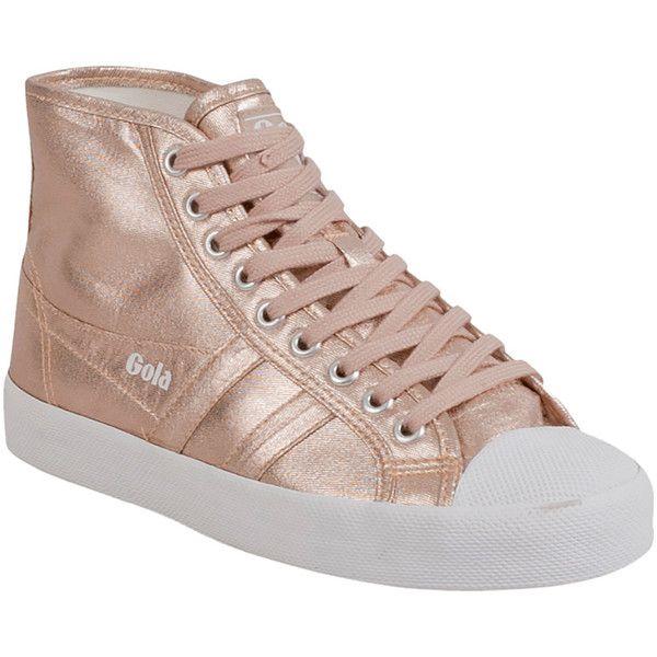 e0269ddc0922 Gola Women s Coaster Metallic High High-Top Sneaker (93 NZD) ❤ liked on