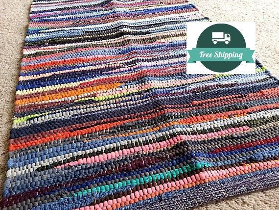 Rag Rug / Bathroom Rugs Kitchen Rugs Swedish by YourGreatestStory