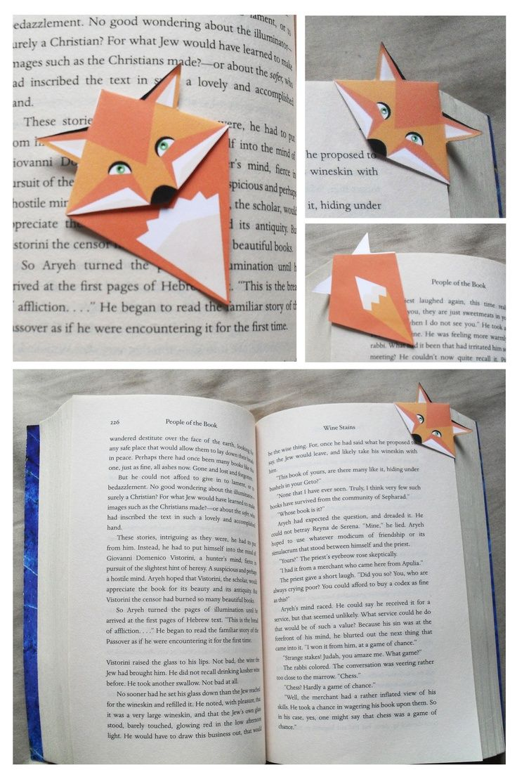 Easy Origami Bookmark Corner - How to make a Corner Bookmark DIY ... | 1109x736