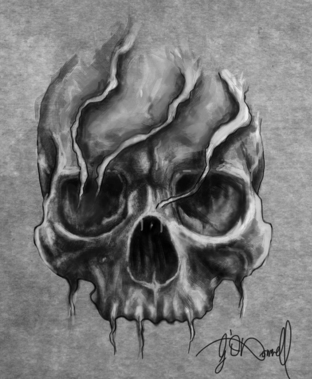 Skull design for a tattoo by XeNzO.deviantart.com on @deviantART