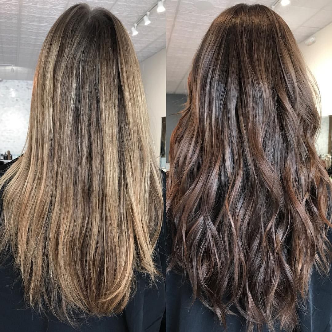 Fall Hair Is In Full Swing I Used All Wellaeducation Color Touch For This Transformat Wella Hair Color Hair Color Formulas Brown Hair With Blonde Highlights