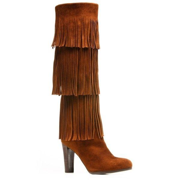 Stuart Weitzman The Fringie Boot Featuring Polyvore, Women