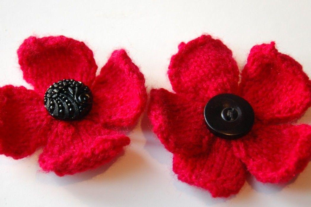 Poppy Knitting Pattern | Knitted poppies, Knitted poppy ...