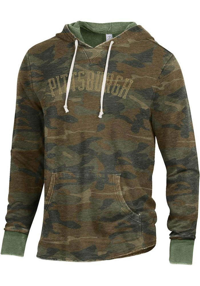 Alternative Apparel Pittsburgh Camo Long Sleeve Hood
