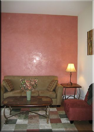Feature Wall with Polished Venetian Plaster: Veneshe Venetian ...