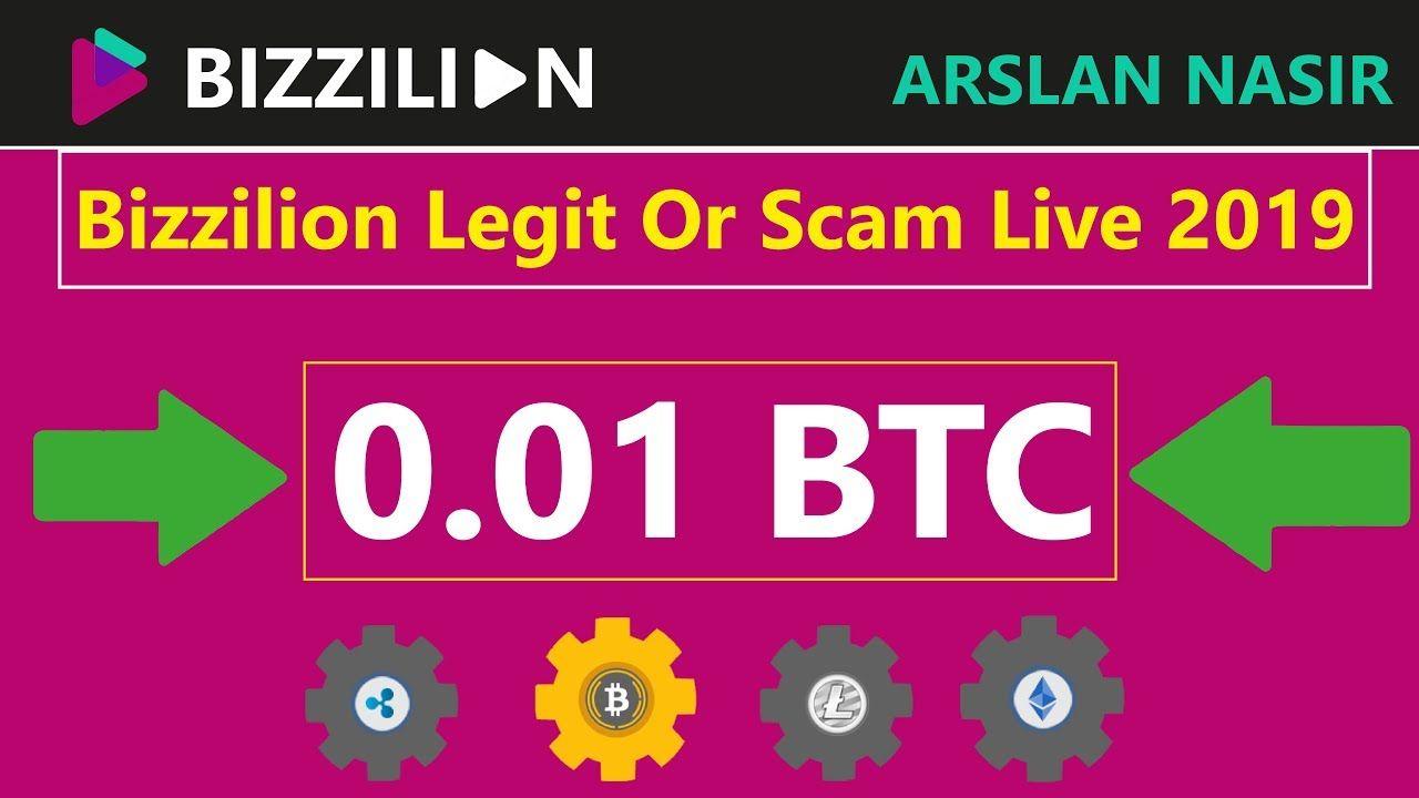 Bizzilion Free Bitcoin Cloud Mining Site Legit Or Scam Live