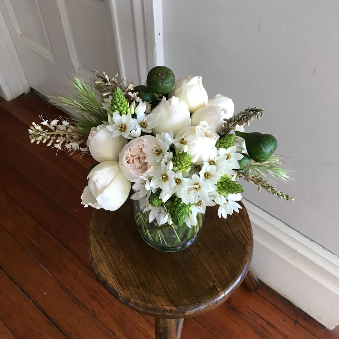 Mothers Day Flower Arrangement Made With Garden Roses Figs Star