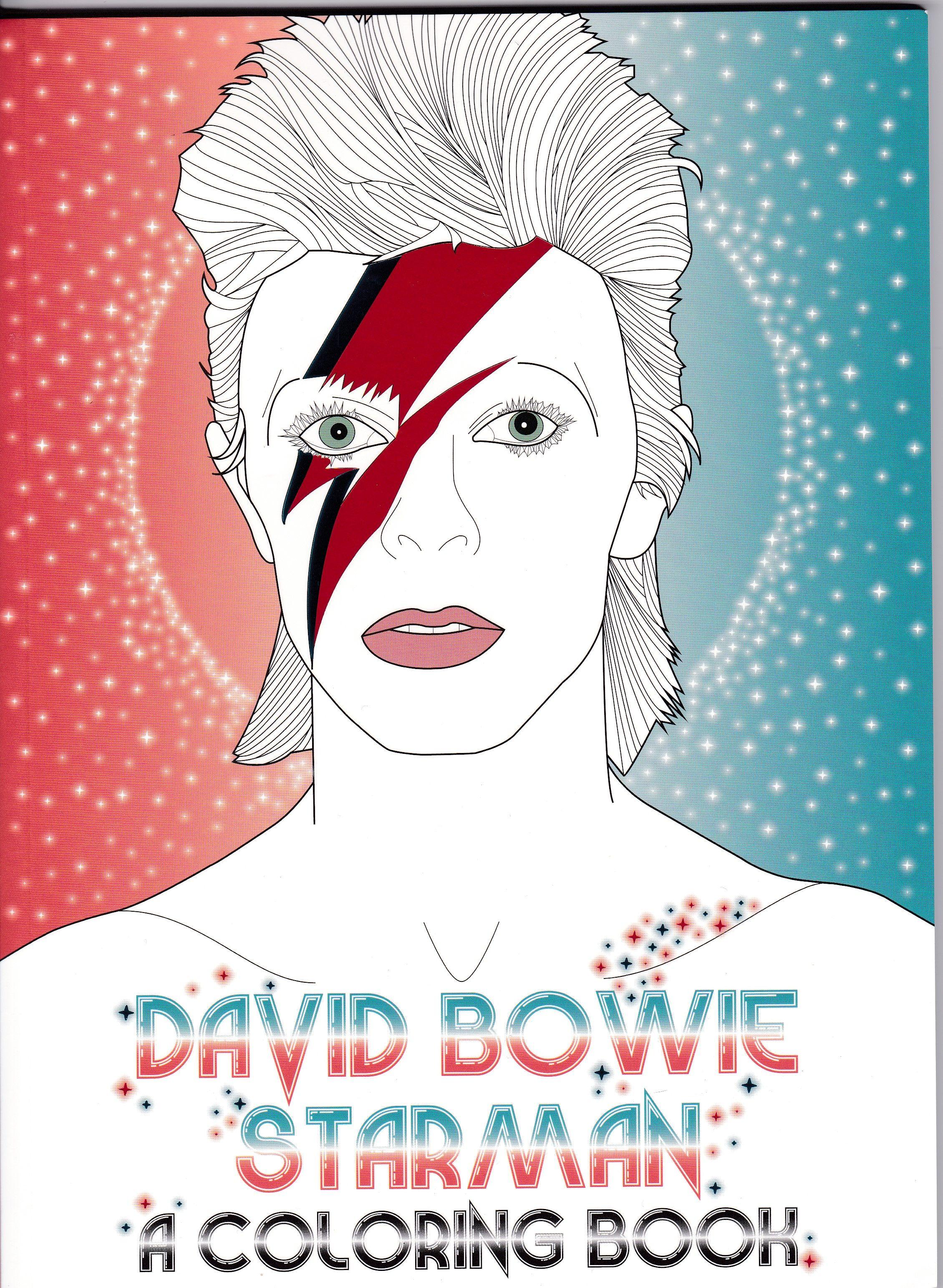David Bowie Starman Coloring Book - Mandalas