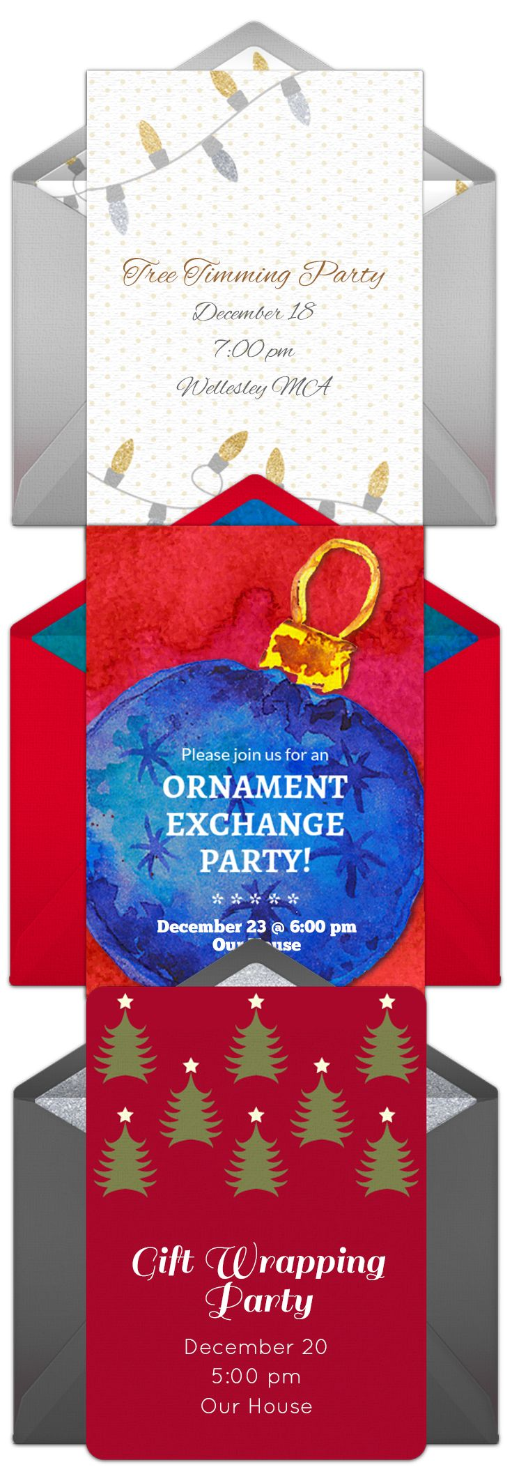 Online Invitations from | Holiday party invitations, Party ...