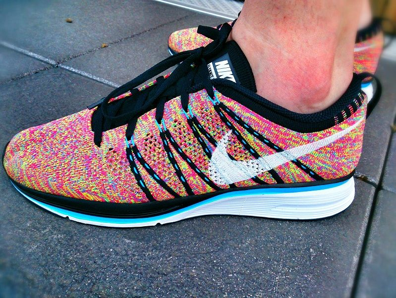 nike free trainer flyknit multi colors