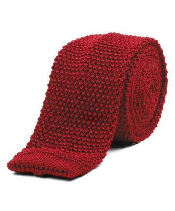 Nick Bronson - Red Silk Knitted Tie http://www.joesstore.co.uk/ties/ties.htm