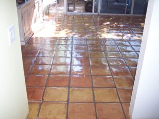 After cleaning services from desert tile and grout care this mexican after cleaning services from desert tile and grout care this mexican tile floor looks brand new mexicantilecleaning mexican tile pinterest ppazfo
