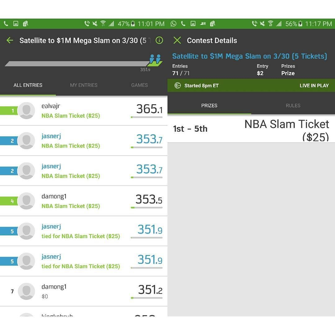 Yesterday i entered competitions i didnt realize i even entered and this happens lol lets gooo  #fanduelnba #fanduel #fanduelwinnings #winning #win #fanduelwinnings #fandueladvice #fanduellineups #moneygram #moneyflip #moneyteam #money #dinero #megaslam #million #millions #bank #300club #300fanduel by brooklyn_wreckless