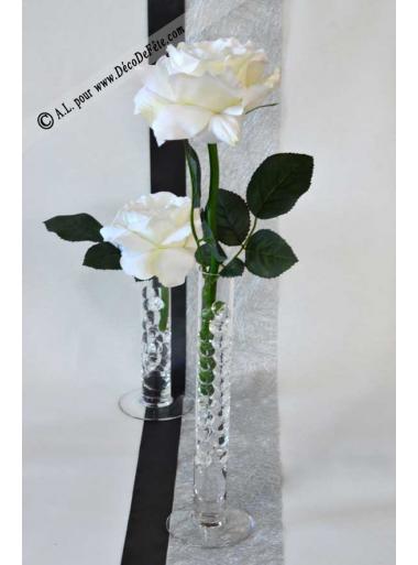 1 Soliflore Verre 25cm Avec Images Table Rose Decoration