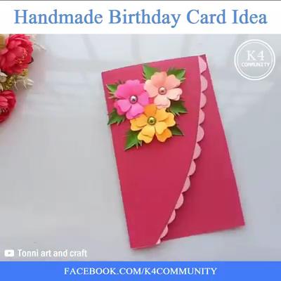 Handmade Birthday Card Idea 18thbirthdaycards