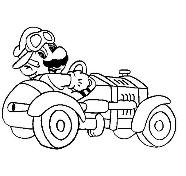 Coloriage Mario Bros New Adult Coloring Pages Cars