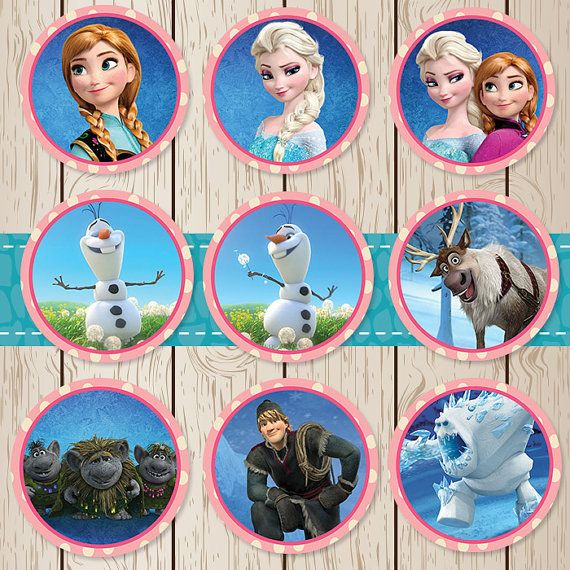 Printable Frozen Stickers / Cupcake Toppers by ...