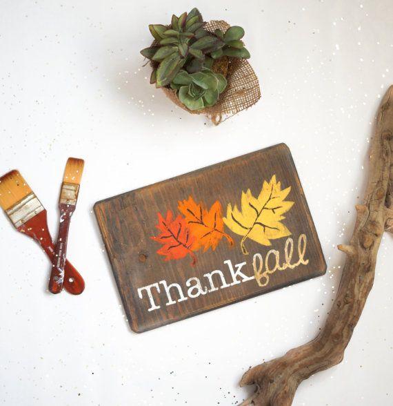ThankFall Fall Wood Sign