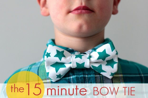 TUTORIAL* 15 Minute Bow Tie   Sewing Tutorials, Tips, Patterns ...