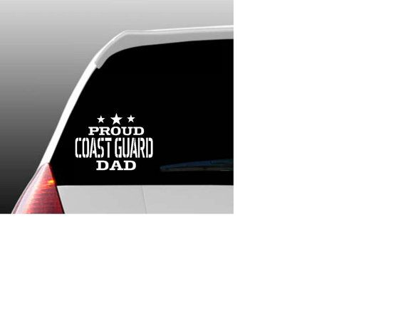 Proud coast guard relative car decal from thekalicokitty on etsy