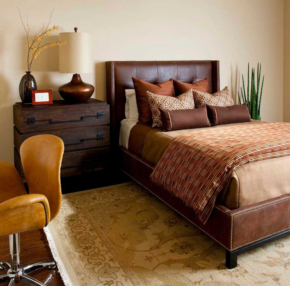 Awesome Masculine Decor Ideas in Bedroom Transitional