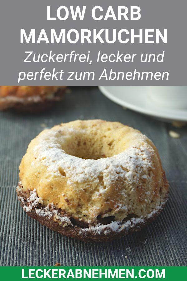 Saftiger Low Carb Mamorkuchen - Zuckerfreies Rezept zum Abnehmen #kohlenhydratarmerezepte