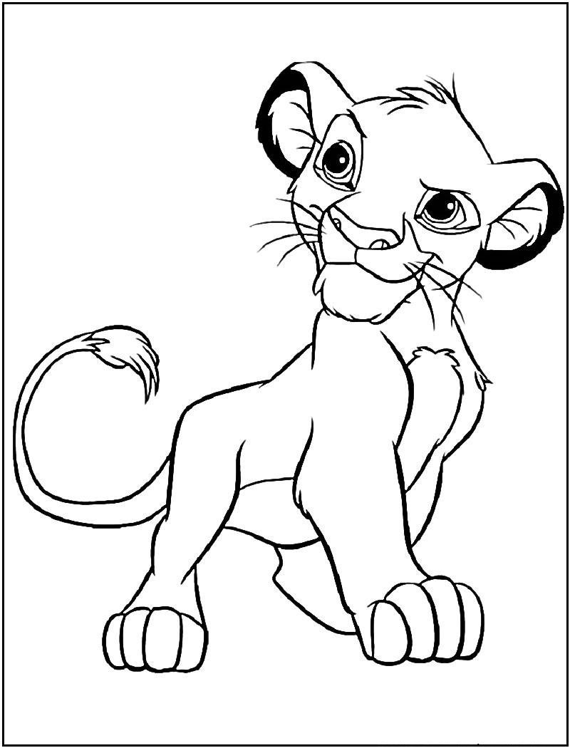 Free Printable Simba Coloring Pages For Kids Lion Coloring Pages Lion King Drawings Lion King Art