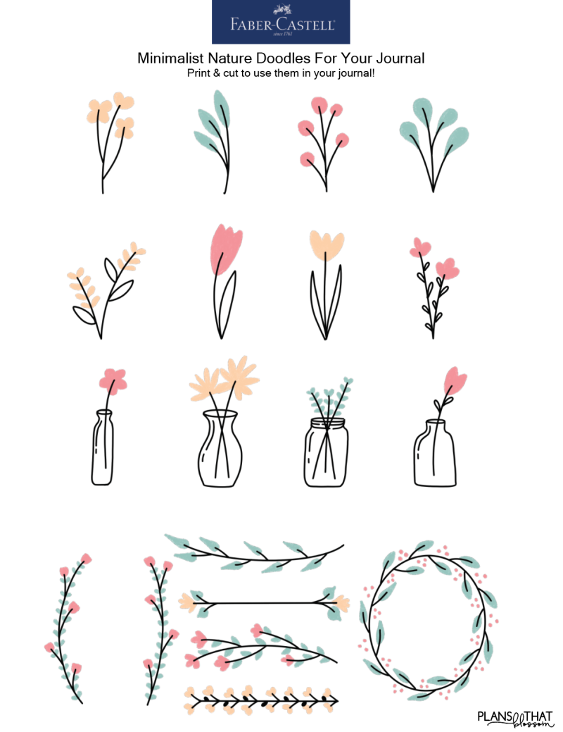 How To Create Minimalist Nature Doodles For Your Journal!