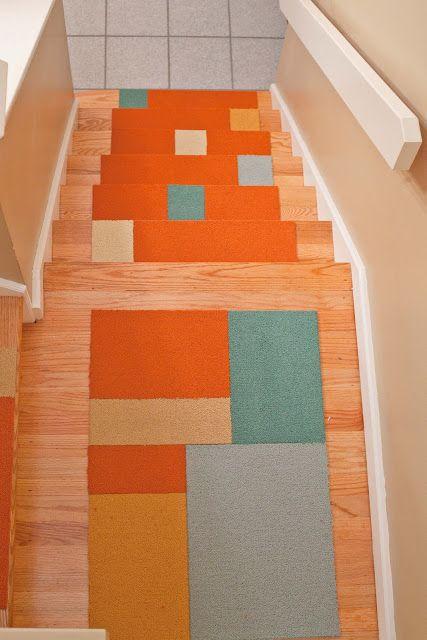 I Am Flored Carpet Tiles Modular Carpet Tiles Carpet Stairs | Carpet Squares For Steps | Kajaria Staircase | Stair Runner | Dean Wrap Around Treads | Communal Stairway | Flower Design