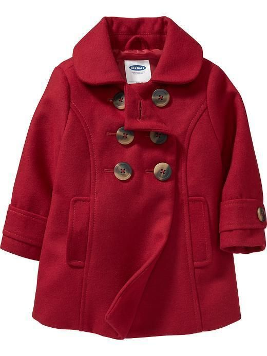 605c88af3f69 Old Navy baby girl Long Pea Coat red size 12-18 month NWT  OldNavy  Coat
