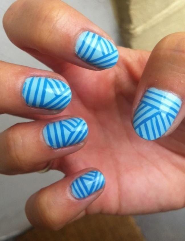 Cool Blue Nail Designsg 650843 Nails Toes Pinterest